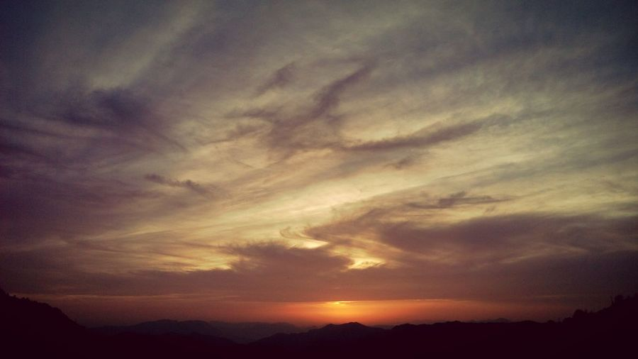 Sunset Hills And Valleys