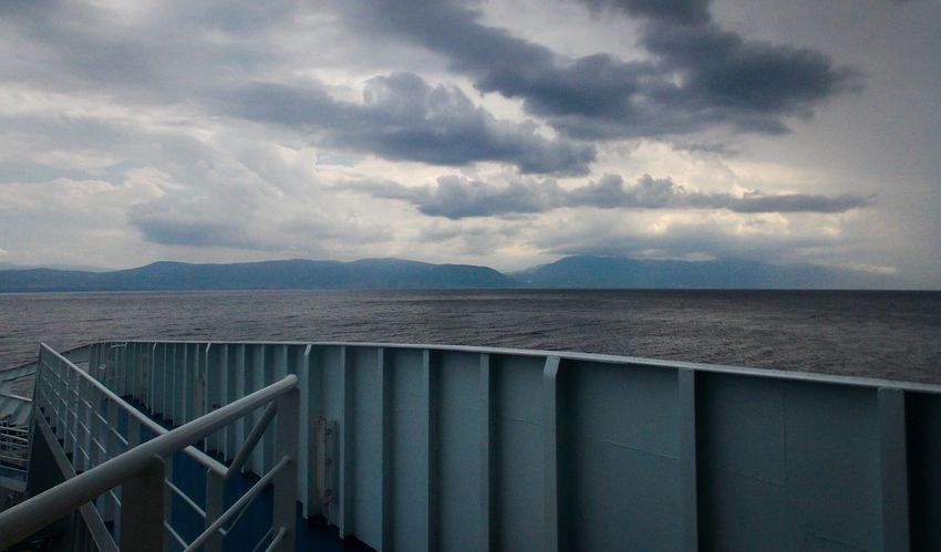 Sky And Clouds Landscape_photography Sea And Sky On The Ship