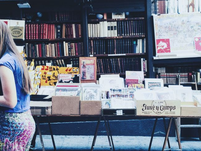 Vintage Shopping Madrid Spain Street Walkway Book Collections Bookshelf Business Walking On The Street Books Bookshop Booklover Bookstore Marketplace Book Store Retail  Read Streetphoto Business District Madrid Market Spanish