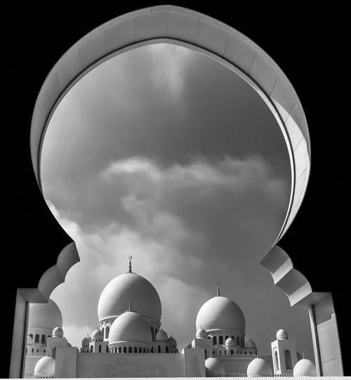 Sheikh Zayed Grand Mosque Seen Through Arch