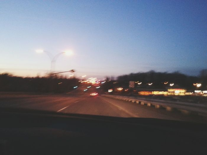 Sunset Car Ride  Boulevard
