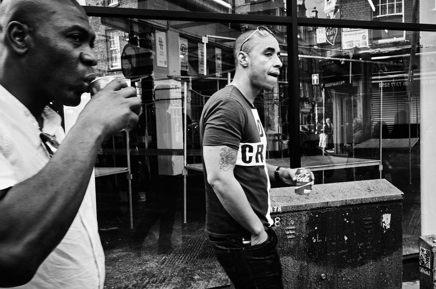 Two Worlds. Urban Street City Street Leica Enjoying Life Week Of Eyeem Eye4photography  Streetphotography Street Photography Maxgor.com Streetphoto Maxgor London Leicacamera Londonstreets Black & White Leicaxvario Rawstreets Peope Real People City Life Bricklane Up Close Street Photography The Street Photographer - 2016 EyeEm Awards Monochrome Photography