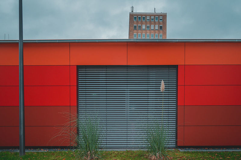 Weyertal hospital, Cologne, Germany Architecture Cologne Green Hospital Plants Red Architecture Building Exterior City Cloud - Sky Clouds Day Germany Grass House, Home, Building No People Outdoors Sky