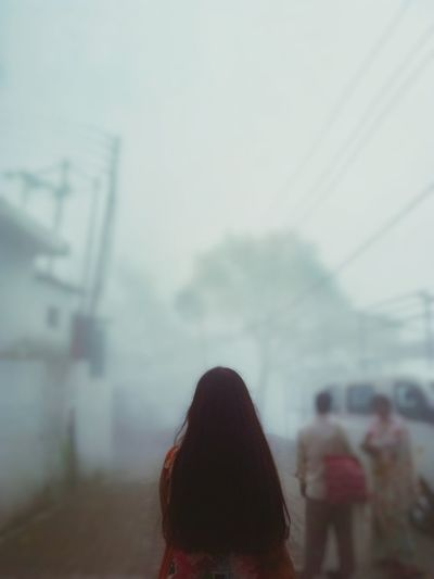 life gets foggy if you don't want to do anything. Women Fog Headshot Cold Temperature Rear View Sky Close-up Architecture Built Structure RainDrop Overcast Residential Structure Foggy Weather Mist Storm Cloud Atmospheric Mood Dew Drop Wet Monsoon Rainy Season Rain Rainfall Office Building A New Perspective On Life