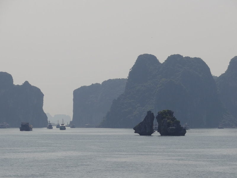 Ha Long Bay Ha Long Beauty In Nature Clear Sky Cliff Copy Space Day Ha Long Bay Ha Long Bay Cruise Mode Of Transportation Mountain Nature No People Outdoors Rock Rock - Object Rock Formation Scenics - Nature Sea Sky Tranquil Scene Tranquility Transportation Water
