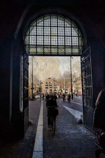 let's get some sun Sunlight Gegenlicht Gegenlichtaufnahme Glass - Material Warm EyeEm Best Shots EyeEm Selects EyeEmBestPics City Silhouette Window Architecture Built Structure Archway Passage Hallway Passageway Arched Gate Arch Entryway Entry Entrance Building Arch Bridge