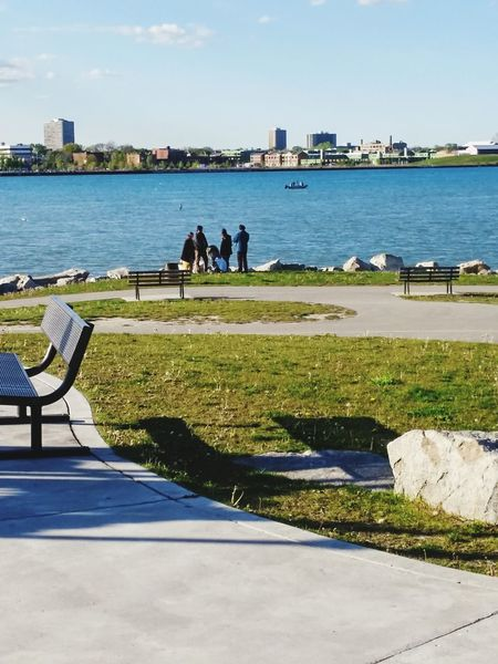 Waterfront Detroit River Windsor Ontario Parks And Recreation Socializing Family Family Time EyeEm Ready