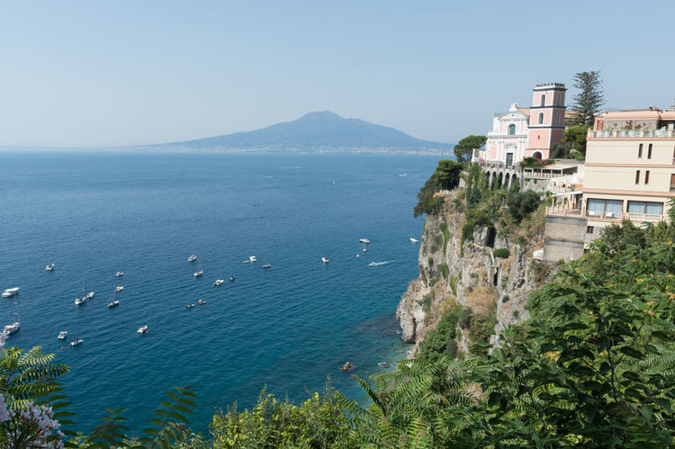Coast Italy Vesuvius  Naples Vico Equense Sea Seaside Coastline View Sorrento Mediterrean Sea