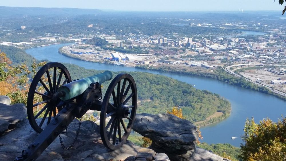 point park, lookout mtn tn Tn River Canon Moccasin Bend Lookout Mountain Point Park Chattanooga, Tennessee Civil War History Chattanooga Tennessee Amazing Views Water No People Day High Angle View Nature Outdoors
