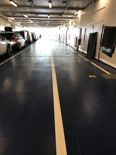 Car treck on the Ferry... Ferry Track Transportation Symbol Sign Road Marking Architecture Road Marking Mode Of Transportation Direction Incidental People Built Structure The Way Forward Group Of People Public Transportation Land Vehicle Wet Indoors