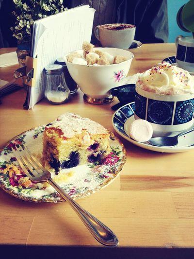 Cake Hot Chocolate Vintage Cafe
