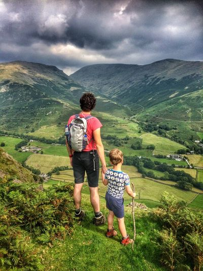 Helm Crag Lake District Cresmere Soaking Up The Sun People Watching Summer Hiking Hill Hills Mountain Mountains Enjoying The Sights Nature Clouds Sky Outdoors Fatherhood Moments People And Places The Great Outdoors - 2017 EyeEm Awards Lost In The Landscape