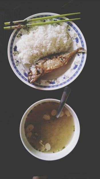 Food Asianstyle Misosoup Fish