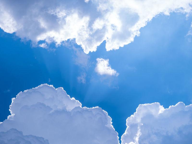 Sun bursting through the clouds Atmosphere Beauty In Nature Blue Bright Cloud Cloud - Sky Cloudscape Cloudy Cumulus Cloud Day Heaven Majestic Nature No People Non-urban Scene Outdoors Scenics Sky Sun Rays Sunbeam Sunlight Tranquil Scene Tranquility