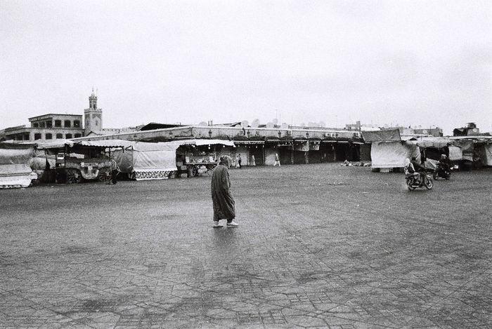 Africa Blackandwhite Man Marrakech Morocco Poor  Square Streetphotography Travel