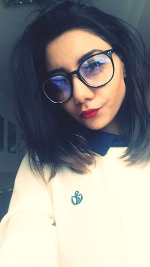 Romanian Woman Blessed  Followme Eyeemvision EyEmNewHere Young Women Portrait Eyeglasses  Beauty Looking At Camera Red Lipstick
