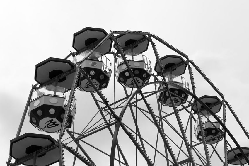 Black & White EyeEm EyeEm Best Shots EyeEm Bnw EyeEmBestPics Amusement Park Amusement Park Ride Black And White Blackandwhite Blackandwhite Photography Bnw Eye4photography  Faris Wheel Monochrome Outdoors Sky