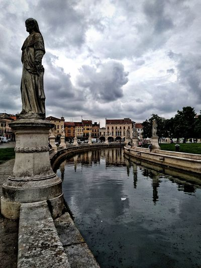 Padova, Aprile 2019 Hdr_Collection City Sky And Clouds Architecture Built Structure Building Exterior Water Water Reflections Gardens Water Sculpture Statue