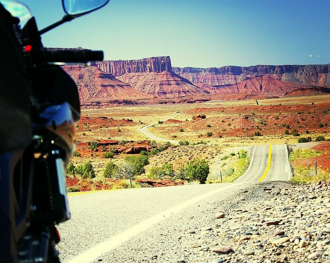 Took the Motorcycle for a trip to Moab, Utah . Sportbike Travel Photography