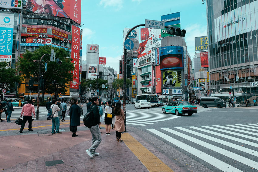 Architecture Building Exterior Built Structure Busy City City City Life City Street Cityscapes Crossing Crowd Day Japan Japanese  Japanese Culture Lifestyles Motion Pedestrian Road Shibuya Shibuya Crossing Street Streetphotography Tokyo Walking