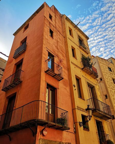 Barcelona City Façade Window Sky Architecture Building Exterior Built Structure Historic Residential District TOWNSCAPE Cityscape Urban Skyline