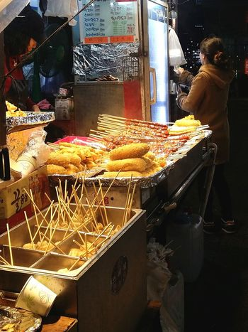 I look for Fishcake everytime I pass by a stall in the streets. I've seen it so many times in k dramas, I feel like I owe it to KBS and the people of korea to eat some! Streetfood Fish Cakes Korean Food Dongdaemun Seoul South Korea Seoulspring2017