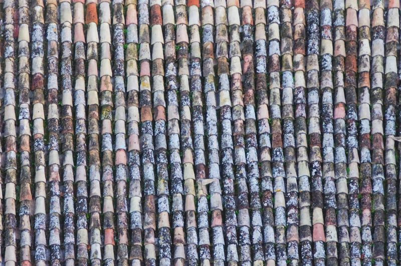 Colorful roof tiles Building Construction Roof Tiles Full Frame Backgrounds Abundance Roof Outdoors Large Group Of Objects No People Tiled Roof  Close-up