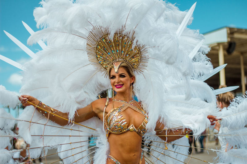 Majestic Carnival Trinidad And Tobago Trinidad Carnival2018 Fantasy Model Femalemodel Beautiful EyeEm Best Shots Girl Eyeem Model  EyeEm Portraits Bliss Only Women One Woman Only One Young Woman Only Feather  Headdress Front View Arts Culture And Entertainment Smiling Celebration Beauty Beautiful Woman