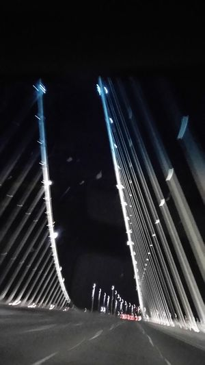 Illuminated Night Sanfrancisco From My Point Of View Smartphone Photographer Smartphonephotography Norcal Cali Life Blurred Motion Bay Bridge Eastern Span Bridge - Man Made Structure Smartphone Photography Transportation Travel Destinations Architecture Outdoors