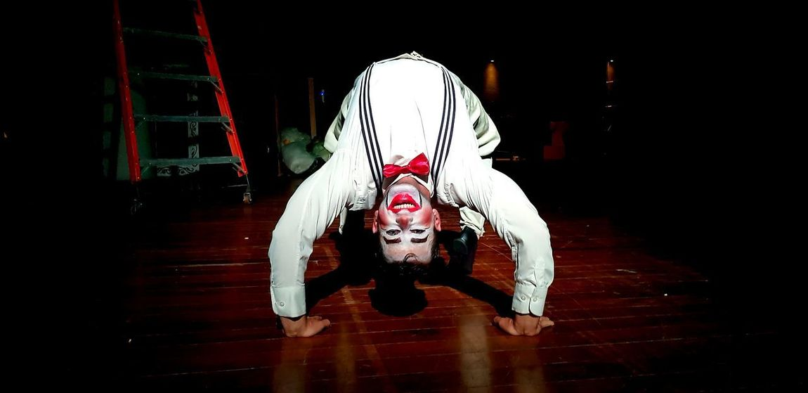 Only Men Adult Adults Only Night Hardwood Floor One Man Only Performance People Indoors  One Person Men Clown Young Adult Titere Ventriloquist Clown Doll Payaso Palhaço