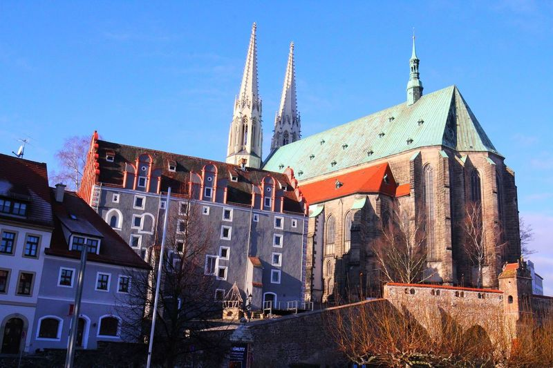 Altstadt Architecture Blue Building Exterior Built Structure Church Clock Tower Denkmal Kirche No People Outdoors Peterskirche Place Of Worship Religion Sachsen Schlesien Spirituality