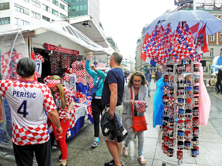 Euro Football Championship 2016.,euphoria,1,Zagreb,Croatia,EU Casual Clothing Championship City Day Eu Euphoria Euro 2016. Football Market Market Stall Outdoors Rainy Day Retail  Souvenirs Sport Zagreb, Croatia