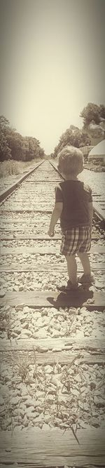Check This Out Michigan Black And White Children Photography BoysBoysBoys Toddler Boy Capture The Moment Railroad Track Railroadphotography Railroads Of America