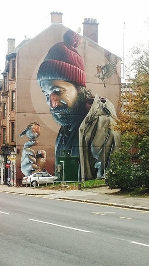 City Men Road Street Street Art Mural Graffiti Spray Paint