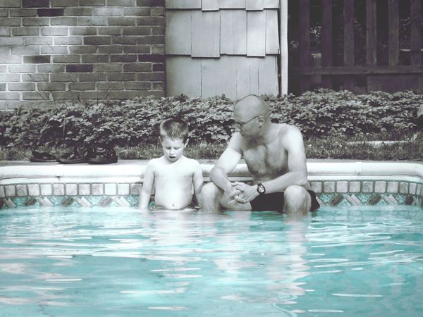 Two Is Better Than One Water Human Representation Full Length Architecture Waterfront Building Exterior Day Outdoors Splashing Creativity Parenthood Father And Son Family Fatherhood Moments People Cinematic Family❤ Parent And Child Summer Swimming Pool People Together Conversation Special Moment Special Live For The Story Place Of Heart