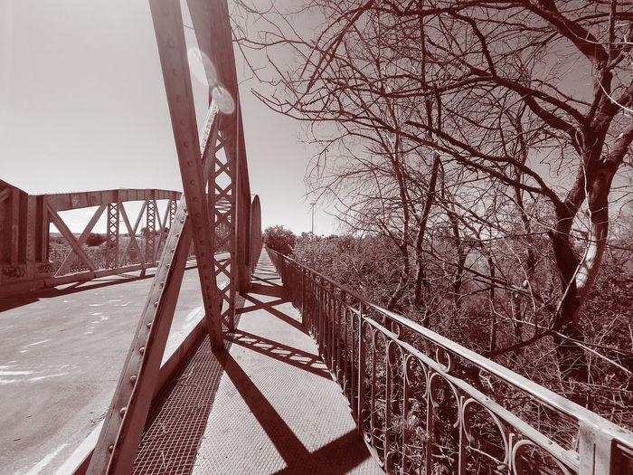 View of bridge against sky during winter