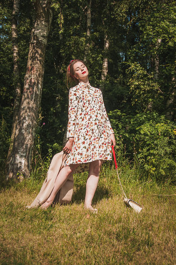 One Person One Woman Only Only Women One Young Woman Only Outdoors Grass Tree Young Women Day Nature People Full Length Beautiful Woman Women Full Frame Fashion Model Lifestyles Females Brown Hair Models Beautiful People No Filter Fashion Fashion Stories