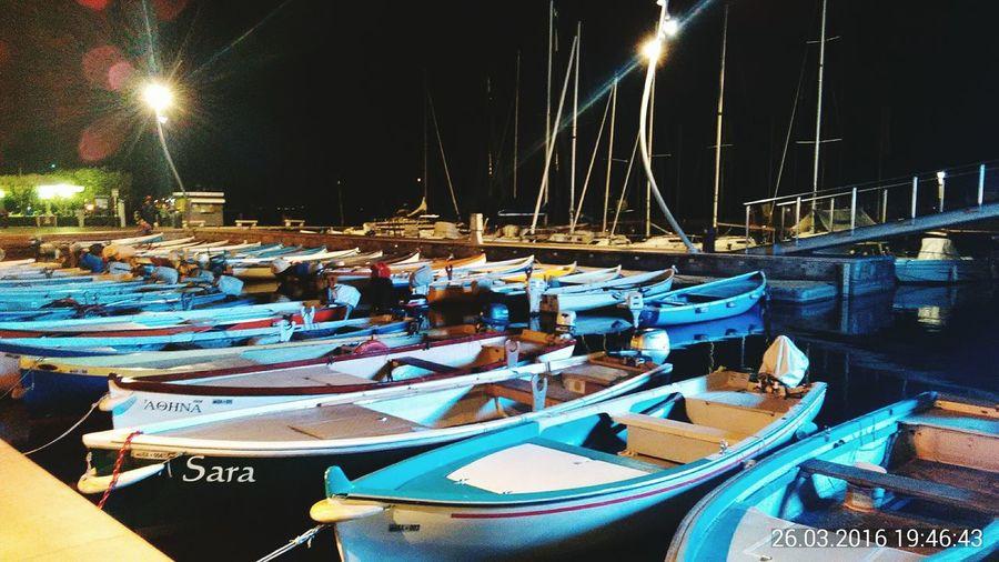 Night Bardolino Italia Sea Night Illuminated
