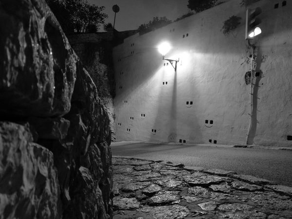 Vacations Architecture Eivissa 🍒❤ Eivissa Oldtown Smiley Face Blackandwhite Photography Blackandwhite Travel Destinations Ibiza No People Dalt Vila Daltvila Indoors  Day Close-up Nature Sky