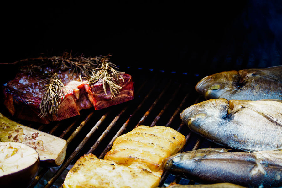 Bon Appetit BBQ BBQ Time BBQing Close-up Day Fish Food Food And Drink Food And Drink Food Photography Food Porn Food Porn Awards Foodphotography Foodporn Freshness Grilled Grilled Fish Grilled Meat Healthy Eating No People Steak T-bone Vegetable