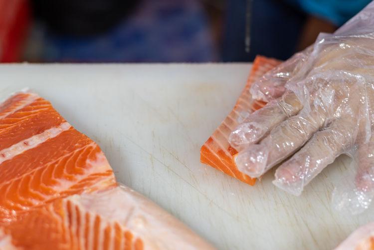 Animal Asian Food Close-up Fish Food Food And Drink Freshness Healthy Eating Indoors  Japanese Food Raw Food Rice Salmon - Seafood Sashimi  Seafood Selective Focus Sushi Vertebrate Wellbeing