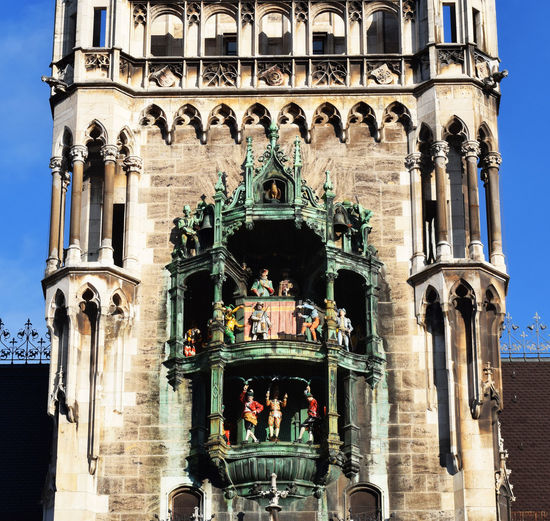 Bavaria German Munich Neues Rathaus Bavarian Bayern Belltower Carillon Germany Muenchen