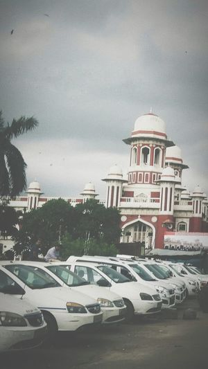 Railway Station Lucknow Dome Car Sky Architecture Building Exterior Built Structure Dramatic Sky Overcast Moody Sky Parking Weather
