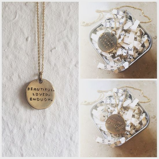 Lieblingsteil Beautiful Necklace Present Loved Enough Twloha Gold Jewellery