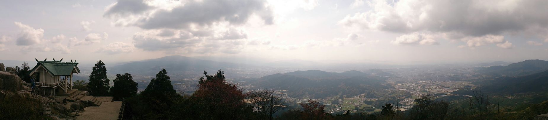 Climbing Landscape Mountain View Japanese Shrine 宝満山 竈門神社
