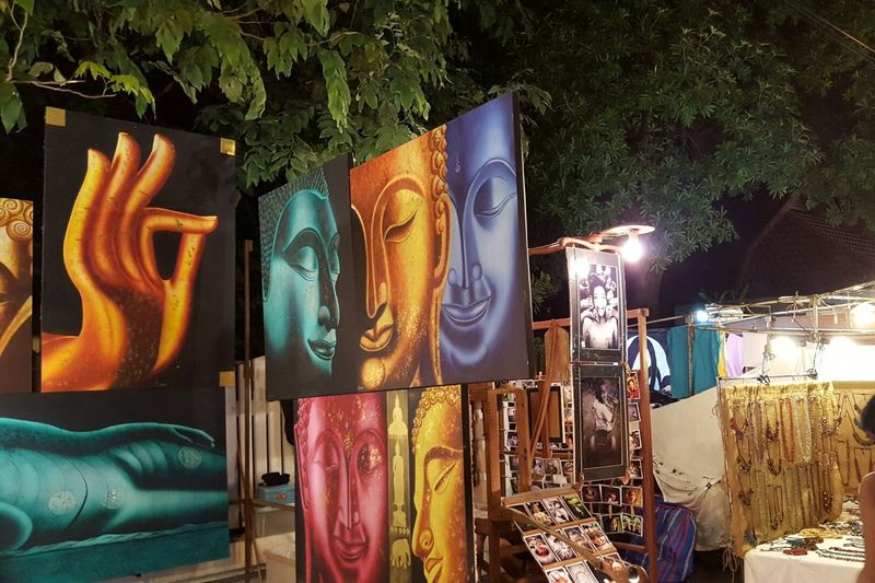 Thailand Chiang Mai Night Market Night Bazar Canvas Art Buddha Travel Travel Photography Colourful Beautiful Market Stall Mobilephotography