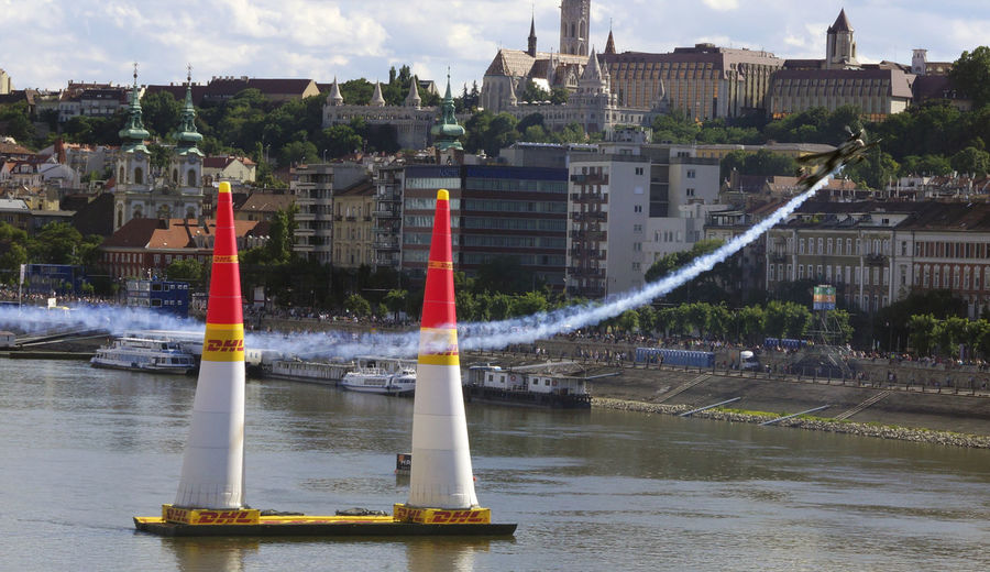 Red Bull Air Race Budapest 2017 Air Race Airplane Architecture Building Exterior Built Structure City Day Flight Nature No People Outdoors Sky Tree Water