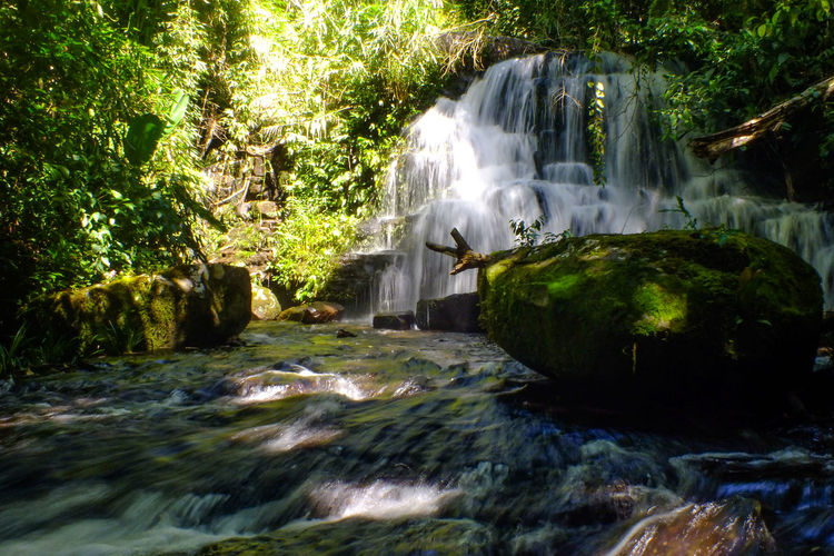 Mun dang waterfall 6th floor2 Waterfall Water Motion Tree Rock - Object Long Exposure Nature Outdoors Beauty In Nature Spraying River Day Scenics Forest Growth No People Tropical Climate Vacations Travel Destinations Freshness Beauty The Week On EyeEm EyeEmNewHere Moss Sunlight