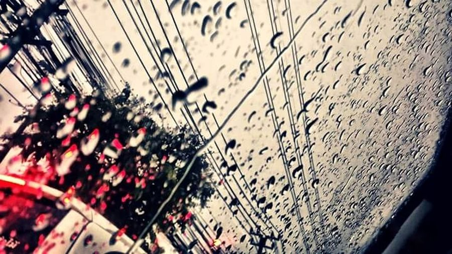 Today it rained