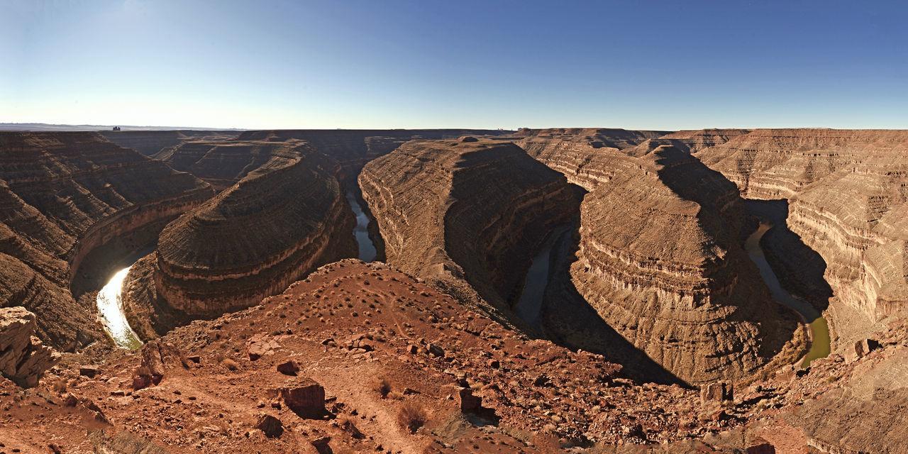 Goosenecks of the San Juan. Desert Goosenecks State Park Utah Canyon Landscape River